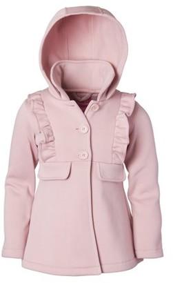 Pink Platinum Ruffled fleece hooded jacket (little girls & big girls)