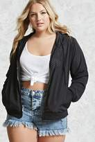 Forever 21 Plus Size Perforated Windbreaker