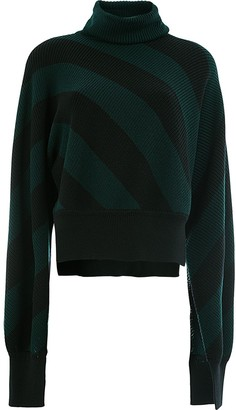 Monse Diagonal Stripe Turtleneck Jumper