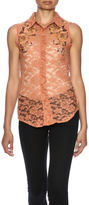 Miss Me Lace Orange top