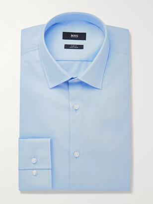 HUGO BOSS Blue Jenno Slim-Fit Cotton Oxford Shirt