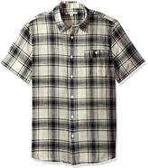 Threads 4 Thought Men's Sustainable Organic Cotton Gauze Plaid Short Sleeve Shirt