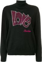 Love Moschino logo roll-neck sweater