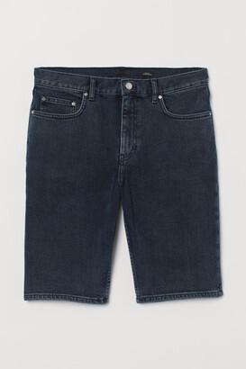 H&M Slim Fit Denim Shorts - Blue