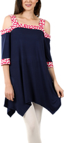 Aster Blue & Pink Handkerchief Cutout Tunic - Plus Too