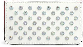 Christian Louboutin Credilou white leather card holder