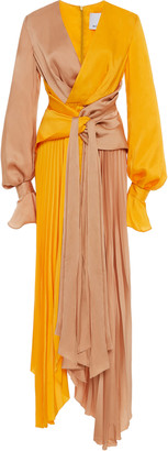 Acler Empire Two-Tone Satin Dress