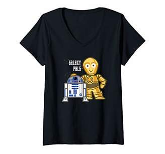Star Wars Womens R2-D2 and C-3PO Galaxy Pals V-Neck T-Shirt