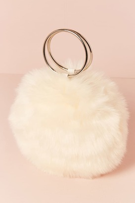 Forever 21 Faux Fur Round O-Ring Clutch