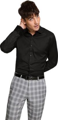 yd. Black Axe Slim Dress Shirt