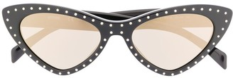 Moschino Crystal Embellished Sunglasses