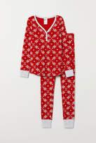 H&M - Pajama Top and Leggings - Red