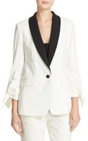 Tibi Women's Stretch Faille Tuxedo Jacket
