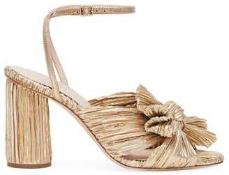 Loeffler Randall Camellia Knotted Lame Sandals