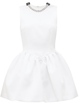 Christopher Kane Crystal-embellished Puffed Satin Mini Dress - Womens - White