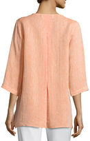 Caroline Rose Chambray Pocket-Front Tunic, Plus Size