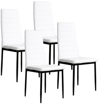 White Faux Leather Dining Chairs Shop The World S Largest Collection Of Fashion Shopstyle