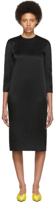 Haider Ackermann Black Kuiper Three-Quarter Sleeve Dress