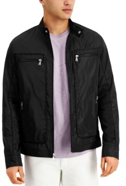 INC International Concepts Inc Men's Regular-Fit Piped Moto Jacket, Created for Macy's