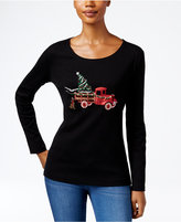 Karen Scott Holiday Truck Graphic Top, Only at Macy's