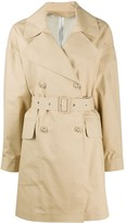 Moncler logo patch trench coat