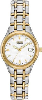 Citizen Ladies Eco-Drive Silhouette Two-Tone Watch #EW1264-50A Solar Powered
