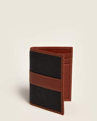 Mulberry Black & Cognac Pebbled Bifold Wallet