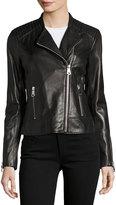 Andrew Marc Selena Leather Jacket, Black
