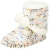 totes Women Ladies Bobble Knit Bootie Hi-Top Slippers,L UK 40/41 EU