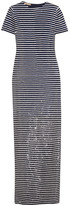 Michael Kors Striped Sequined Silk Maxi Dress - Navy
