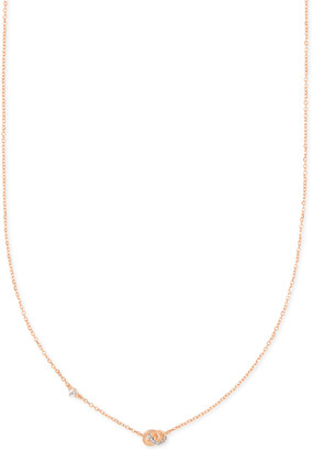Kendra Scott Love Knot 14K Gold Short Pendant in White Diamond