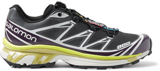 Salomon Xt-6 Adv Mesh And Rubber Running Sneakers