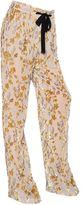 Etro Floral Viscose & Silk Devore Pants