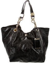 Jimmy Choo Cracked Patent Canvas Hobo
