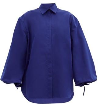 Jil Sander Balloon-sleeve Cotton-blend Shirt - Blue