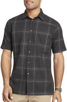 Van Heusen Short-Sleeve Giant Windowpane Woven Shirt