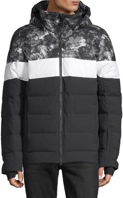 J. Lindeberg Colorblock Down-Filled Puffer Jacket