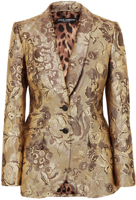 Dolce & Gabbana Metallic Brocade Blazer