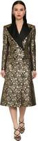 Dolce & Gabbana Double Breast Jacquard Lame Coat