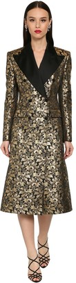 Dolce & Gabbana Double Breast Jacquard Lame Coat