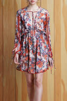 Adelyn Rae Floral Tie Front Dress