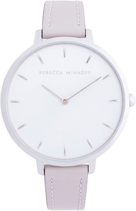 Rebecca Minkoff Major Leather Strap Watch, 38mm