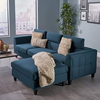 Bronx Ivy Lundberg Right Hand Facing Modern Deep Seated Chaise Modular Sectional Ivy
