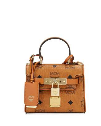 MCM Heritage X-Mini Visetos Satchel Bag