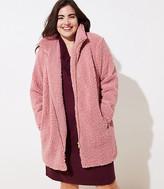 LOFT Plus Fleece Funnel Neck Coat