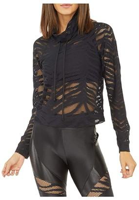 Koral Pump Vine Pullover (Black) Women's Clothing
