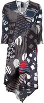Zero Maria Cornejo geometric print fold over dress