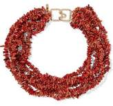 Kenneth Jay Lane Bead Gold-Tone Necklace