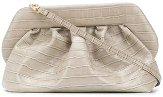 Themoire Croc-Effect Clutch Bag