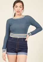 ModCloth Midtown Mixer Sweater in Navy in L